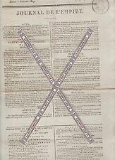 Napoléon Ier. Journal de l'Empire du Mardi 7 Juillet 1807. Imprimerie Le Normant