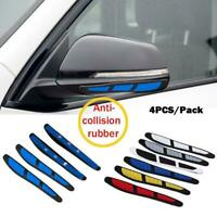 4x Blue Car Door Edge Guard Strip Scratch Protector Anti-collision Trim Sticker
