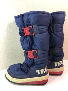 Vintage Tecnica Moon Boot Sz US 7.5 EU 38 Snow Boots Red White Blue