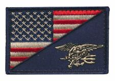 Tactical USA Flag / Navy Seal Military Morale Embroidered Patch