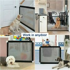 Portable Woven Mesh Pet Dog Gate Puppy Safety Enclosure for House Indoor