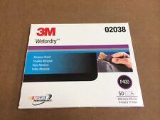 "3M 02038 Wetordry Sheet, P400 Grit, 9"" x 11"", 2038 - 50 sheets"