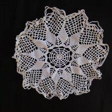Napperon coton linge de table fait main au crochet vintage art nouveau Lorraine