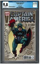 Captain America #1 Cgc 9.8 (9/11) Marvel Romita variant white pages
