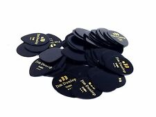 Dunlop Guitar Picks Teardrop Classic Celluloid Medium Black 72 Pack
