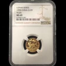 1998 LUNAR SERIES TIGER 1/10oz gold coin G10Y NGC MS69