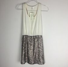 MM Couture Size Small NWT Gold Sequin Dress B14