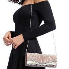 Shimmering Evening Bag Clutch Purse Party Bridal Prom Handbag Wedding Banquet