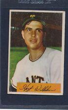 1954 Bowman #057 Hoyt Wilhelm Giants Fair 54B57-11216-2