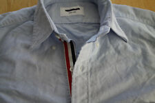 NWOT Thom Browne Blue Oxford Button Down TB1 14.5-32 Grosgrain MSRP $425
