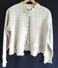Vintage Mine Sweater . Cardigan . Size 90 (m) Wool Blend . Beige Tone