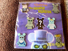 Disney * VINYLMATION HAUNTED MANSION * Booster 7 pin set w Chaser MIP Ghosts