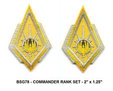 BattleStar Galactica Commander Rank Insignia Patch Set - 2 x Bsg78