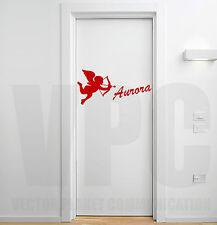 wall stickers san valentino scrivi nome personalizzato adesivo amore cupido