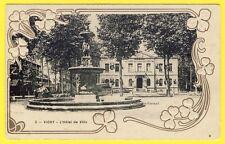 cpa 03 - VICHY (Allier) Carte Gaufrée Style ART NOUVEAU L' Hôtel de Ville