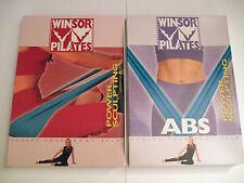 Winsor Pilates Resistance Lot 2 DVDs Abs Power Sculpting Power Sculpt Resistance