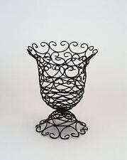 Metall Vase 16x19cm Blumenvase Tischvase Bodenvase Dekovase aus Metall Schwarz