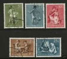 Nederland 649-653 Kinderzegels 1954  luxe gestempeld/USED