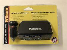 Wilson 12v Volt Dual 2.4 amp USB Charger Power Adapter Cigarette Lighter Outlet