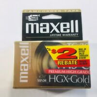 Maxell VHS-C HGX-Gold TC-30 Blank Camcorder Video Cassette Tape, New, Sealed