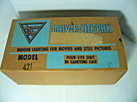 ACME MOV-E-LITE Vintage 4 Light Movie Light Outfitwith Metal Case