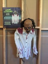 Spirit Halloween Hanging Clotheslined Zombie Prop - with box not animatronic