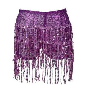 Purple Sequin Shorts Festival Party Shirt With Under Shorts
