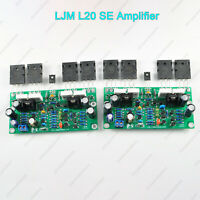 Pair LJM L20 SE Amplifier A1943 C5200 200W Hifi Audio Stereo Amplifier Class AB