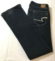 American Eagle Outfitters Stretch Jeans Women Sz  2 Low Rise Dark Wash  Boot Cut