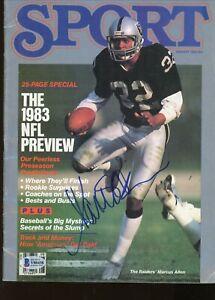 Marcus Allen Oakland Raiders Signed Autographed Sport Magazine BAS Beckett