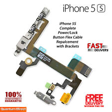 NEW iPhone 5S Complete On/Off Power/Lock Volume Mute/Silent Switch with Brackets