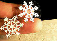 112 Snowflakes Self-Adhesive Stickers Christmas Wall Windows Gift Decorations K