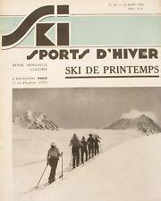 Ski Sport d'Hiver n°38 - 1936 - La Grande Ruine - Les Tauern de Radstadt - Davos