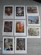 Lot of 9 Vintage 1970s National Guard Heritage US War Related Prints