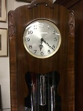 Art Deco Oak Cased Grandfather Clock Made In England