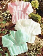 Baby Boys Girls Cardigans and Sweater DK Knitting Pattern 99p 200