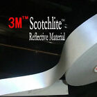 3M 8910 HI VISIBILITY REFLECTIVE SEW ON TAPE, 25MM/50MM, SILVER, CHOOSE LENGTH