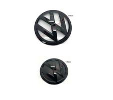 VW TRANSPORTER T6 Emblem schwarz Glänzend Vorne Hinten Zeichen Embleme #4