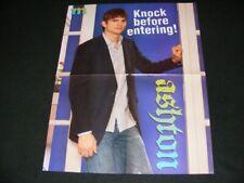 ASHTON KUTCHER magazine clippings with POSTER