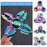 Metal Rainbow Fidget Finger Spinner Hand Focus Spin Aluminum Stress Toy TITANIUM