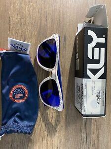 Oakley FROGSKINS TEAM USA Blue White POLARIZED Galaxy Blue Sunglass 9013
