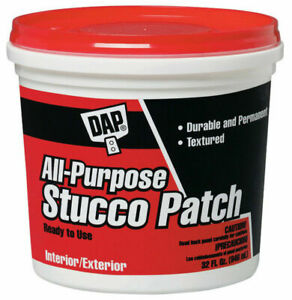 Dap 10504 All Purpose Ready Mixed Stucco Patch, 1 Qt, White