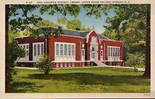 Library Lenoir Rhyne College Hickory, North Carolina NC - Vintage Linen Postcard