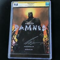 Batman Damned #2 💥 CGC SS 9.8 SIGNED by AZZARELLO 💥 Variant Cover Jim Lee DC