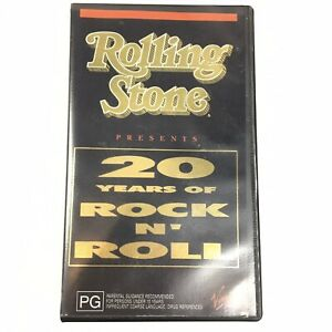 Rolling Stone Presents 20 YEARS OF ROCK N' ROLL (1989, VHS PAL) FREE SHIPPING
