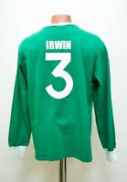 IRELAND RUGBY UNION HOME SHIRT JERSEY #3 IRWIN TOFFS SIZE XL ADULT LONG SLEEVE