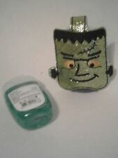 Hand Sanitizer Holder Frankenstein Sparkle Green Embroidered Halloween Kids 1 oz