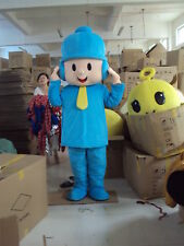 Halloween Pocoyo Boy Mascot Costume Suit Adults Cosplay Party Game Dress Outfit