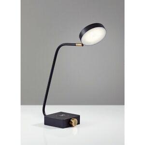 Adesso Conrad LED Charge Desk Lamp, Matte Black - 3618-01