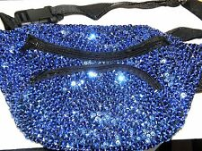 ROYAL BLUE SEQUIN FANNY PACK FANNYPACK PURSE CHRISTMAS / MOTHERS DAY GIFT !
